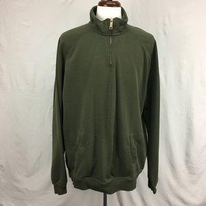 Carhartt Green Quarter Zip Relaxed Fit Sweater